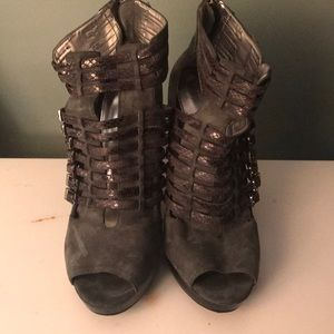 Grey suede Calvin Klein heel